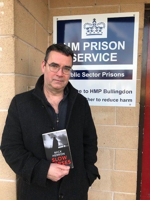 Mick Herron visitin Bullingdon